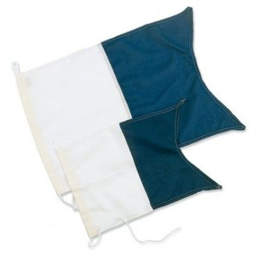 Dykkerflagg Alfa 40x30cm Image